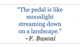 F. Busoni - quote about piano pedal