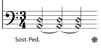 sostenuto pedal marks