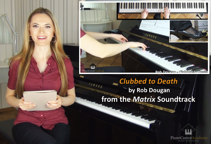 PianoCareer.com. The Matrix - Clubbed to Death. Piano Tutorial. Lesson No 85 (Video Course for Beginners)
